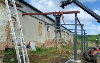 Tetőszerkezet araktárhelységhez – Gesztete